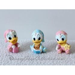 Figurines Donald et Daisy DISNEY bébé baptême dragées anniversaire sujet résine