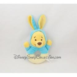 Hochet Winnie l'ourson DISNEY BABY capuche bleu jaune