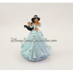 Figurine résine Jasmine DISNEYLAND PARIS Aladdin robe bleu Disney 10 cm
