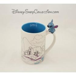 Mug Stitch DISNEY PARKS Lilo et Stitch anse 3D tasse en céramique 13 cm