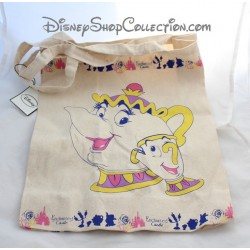 Sac en toile Zip et Mrs Samovar DISNEY Primark La Belle et la bête Enchanted Castle 44 cm