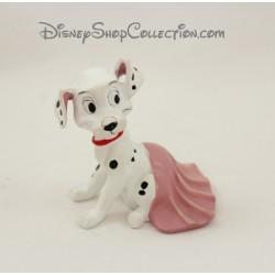 Figurine résine chien DISNEY Les 101 Dalmatiens couverture rose