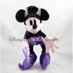 Peluche Mickey DISNEYLAND PARIS Halloween diable violet noir 33 cm