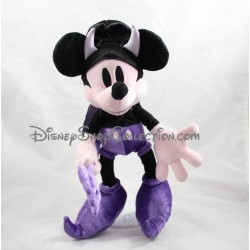 Peluche Mickey DISNEYLAND PARIS Halloween diable violet noir 33 cm