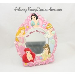 Miroir Princesses DISNEYLAND PARIS cadre ovale résine The Fairest one of all