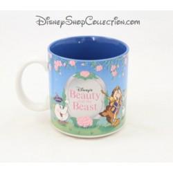 Mug La Belle et la bête DISNEY Beauty and the beast tasse bleu scène 9 cm