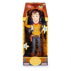 Muñeca parlante de juguete historia Pixar Woody DISNEY STORE habla inglés 36 cm