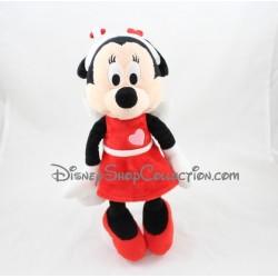 Peluche Minnie NICOTOY Disney St Valentin robe rouge coeur aile 32 cm