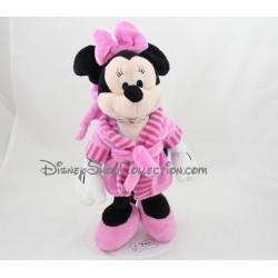 Peluche Minnie NICOTOY Disney peignoir rose 30 cm