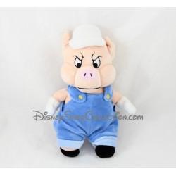 Peluche Naf Naf DISNEY STORE Les 3 petits cochons salopette bleu Pratical Pig