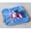 Doudou plat Bourriquet DISNEY BABY marionnette écharpe rayée abeille 23 cm