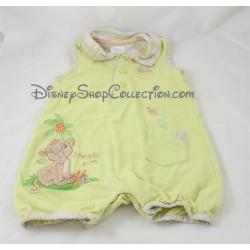 Combi corto Simba DISNEY STORE El rey león verde niño 3-6 meses sin mangas