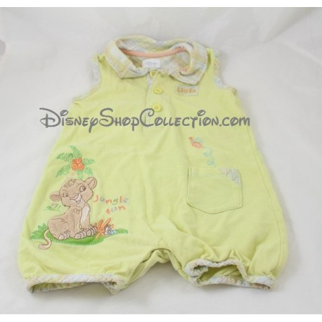 81aa231c8 Onesie Simba DISNEY STORE 3-6 months sleeveless green boy lion king