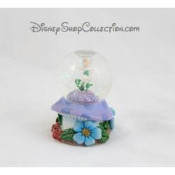 Snow globe Fée Clochette DISNEY champignon fleur petite boule à neige Tinker Bell 8 cm