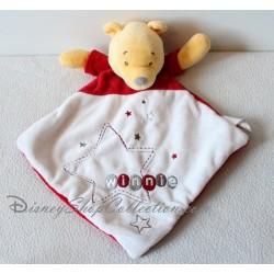Doudou Winnie l'ourson DISNEY BABY étoile brodée losange rouge gris jaune