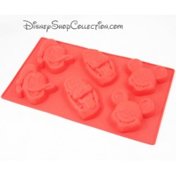 Mould in silicone Mickey DISNEY cakes x 6 Donald and Pluto