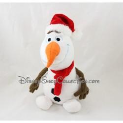 Peluche Olaf DISNEYLAND PARIS Noël La Reine des Neiges bonhomme de neige Disney 25 cm