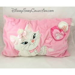Coussin chat Marie DISNEY Les aristochats rose blanc rectangle petite poche