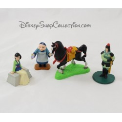 Lot de 4 figurines Mulan DISNEY Grand mère, Khan le cheval PVC 7 cm