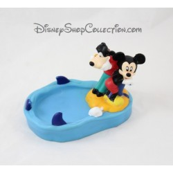 Figurine porte savon GROSVENOR Disney Mickey et Dingo plastique souple