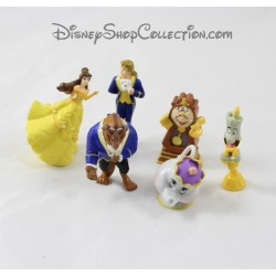 Lot de 6 mini figurines La Belle et la Bête DISNEY pvc