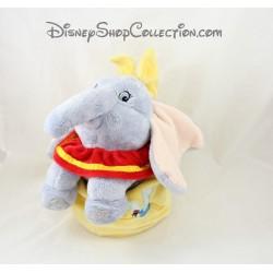 Peluche éléphant DISNEYLAND PARIS Dumbo baluchon sac jaune Disney 28 cm