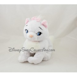 Peluche chat Marie DISNEY NICOTOY Les Aristochats blanc rose 25 cm