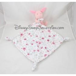 Handkerchief Piglet DISNEY BABY flowers knots Disney Store 42 cm