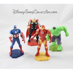 Lot de 4 figurines Avengers MARVEL DISNEY Kinder Thor Hulk Captain Iron Man