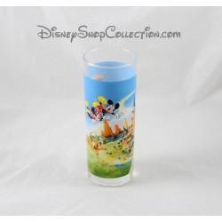 Verre DISNEYLAND PARIS grand verre haut Mickey Minnie Daisy ... 18 cm