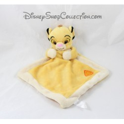 Doudou plat Simba DISNEY NICOTOY Le Roi lion losange jaune 29 cm