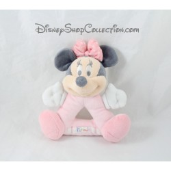 Hochet souris Minnie DISNEY STORE layette rose grelot triangle 19 cm