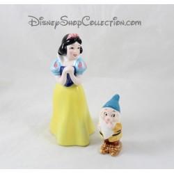 Figurines céramique Blanche Neige DISNEY et nain Timide porcelaine