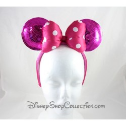 Serre-tête Minnie DISNEYPARKS oreilles de Minnie Mouse noeud rose sequins