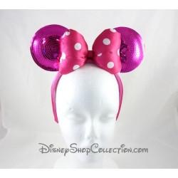 Serre-tête Minnie DISNEYPARKS oreilles de Minnie Mouse noeud rose sequins