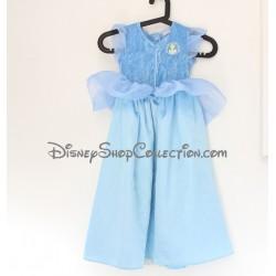 Disfraz Vestido de Cenicienta DISNEY princesa azul 5/7 años