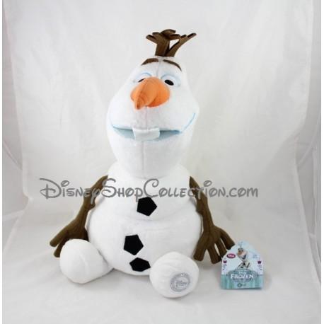 Peluche Olaf DISNEY STORE La Reine des Neiges bonhomme de neige 36 cm