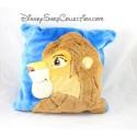 Coussin Le roi Lion DISNEY Simba adulte marron bleu peluche