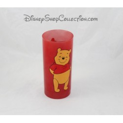 Winnie the Pooh High Glass DISNEY STORE Red Pooh 14 cm