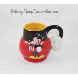 Mug en relief Mickey DISNEYLAND PARIS tasse 3D rouge noir hanse main 12 cm