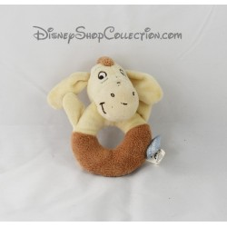 Hochet âne Bourriquet DISNEY BABY Winnie l'ourson beige marron 13 cm