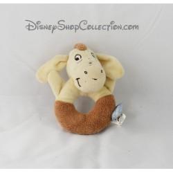 Hochet âne Bourriquet DISNEY BABY Winnie l'ourson beige marron 13 cm
