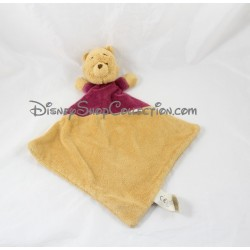 Doudou plat Winnie l'ourson NICOTOY DISNEY losange jaune rouge Simba