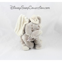 Elephant plush Dumbo DISNEY NICOTOY gray gingham bowtie