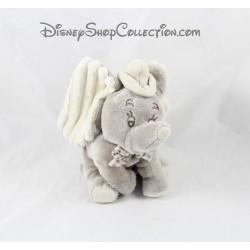 Peluche éléphant Dumbo DISNEY NICOTOY gris noeud papillon vichy 18 cm