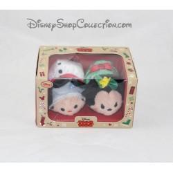 Ensemble mini peluche Tsum Tsum Mickey et Minnie DISNEY STORE Noël