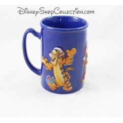 Mug en relief Tigrou DISNEY STORE tasse bleu Noël en céramique 3D