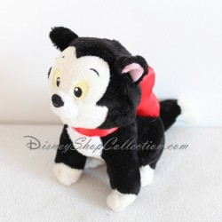 Peluche Figaro chat DISNEY STORE noeud rouge chat de Minnie et Pinocchio
