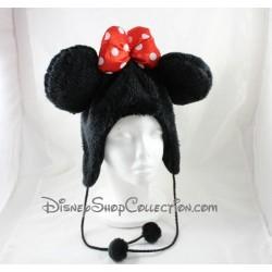 Bonnet Minnie DISNEYLAND PARIS cache oreilles noir rouge