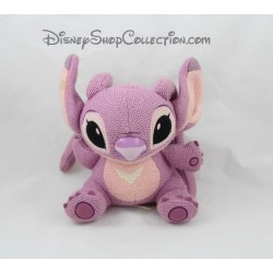 Peluche Angel DISNEYLAND PARIS Lilo et Stitch laine rose Disney 17 cm